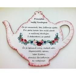Maľovaná tabuľka čajník