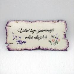 Maľovaná tabuľka pergamen