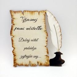 Maľovaná tabuľka pergamen s...