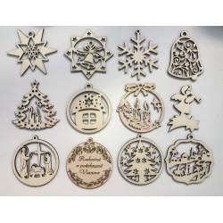 Vianočné ozdoby - sada:...