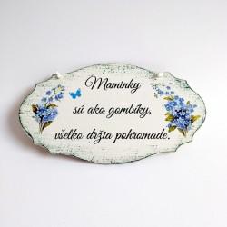 Maľovaná ornamentová tabuľka