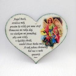 Maľovaná tabuľka srdce